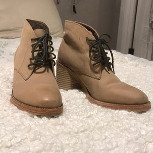 Dolce Vita Tan Leather Ankle Bootie for SALE!